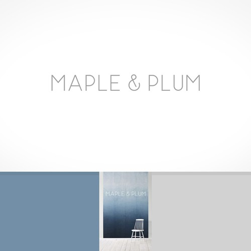 Furniture logo with the title 'clean modern design for interior design firm'