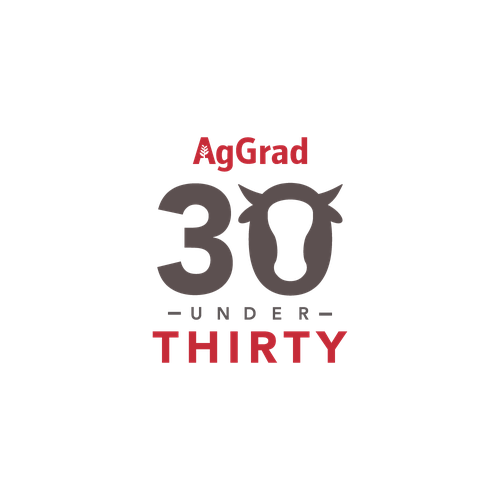 Campaign logo with the title '30 Under 30 logo'