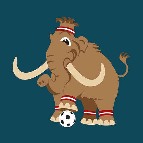 Mammoth design with the title 'mamut'