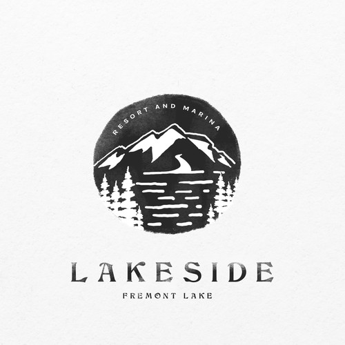 Resort brand with the title 'Lake resort logo'