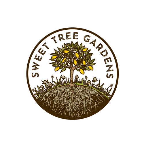 Truffle logo with the title 'Sweet Tree Gardens'