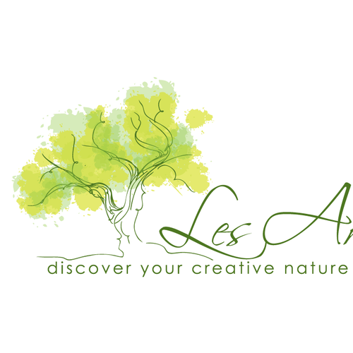 Headshot logo with the title 'hand-drawn sketchy tree'