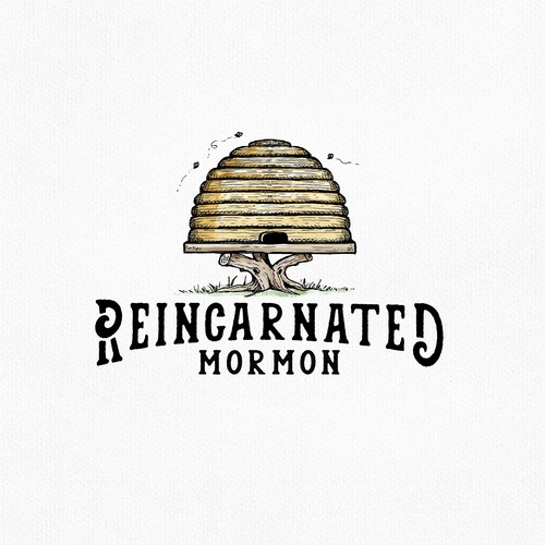Rustic logo with the title 'Reincarnated Mormon'