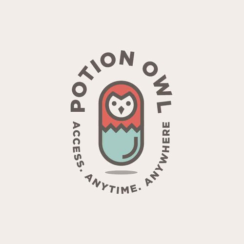 Brand logo with the title 'Potion Owl'