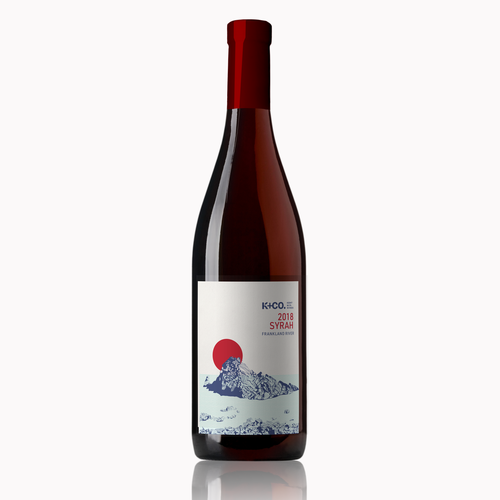 Photoshop label with the title 'Wine label for Australian winery'
