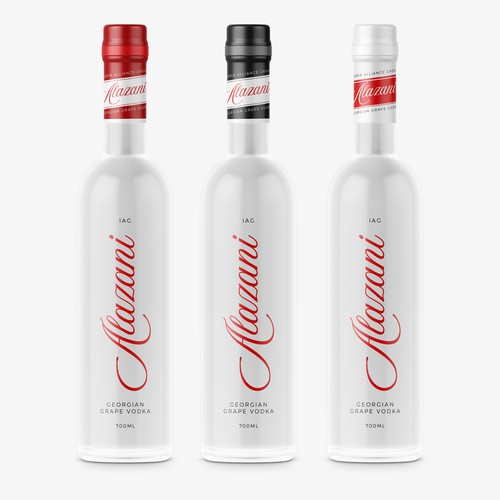 Vodka label with the title 'Vodka Label Design'