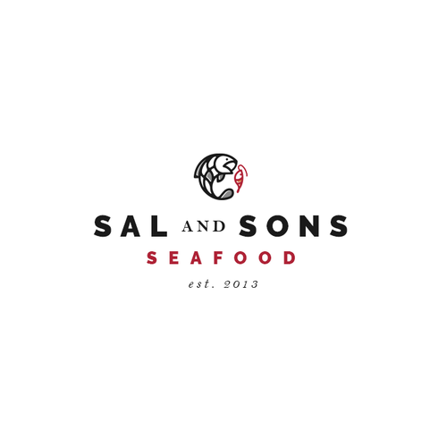 Masculine brand with the title 'SAL AND SONS SEAFOOD'