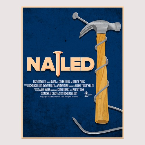 """Nail design with the title 'Design a poster for the short film """"Nailed""""'"""