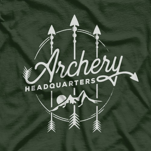 Archery design with the title 'Archery Headquarters'