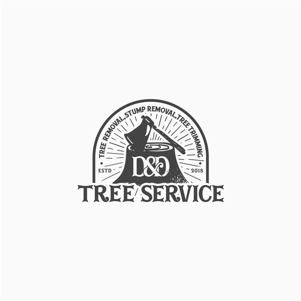 Lumber logo with the title 'Tree Services'
