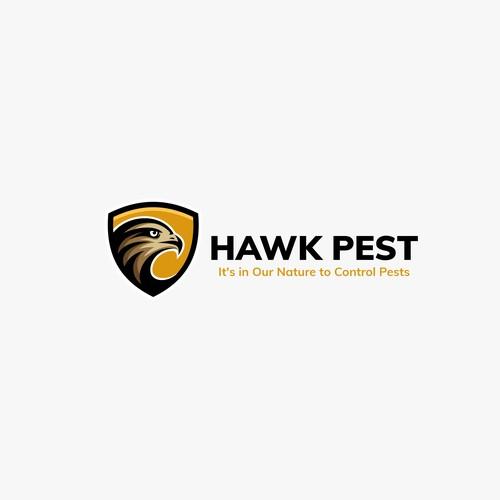 Falcon design with the title 'Hawk Pest'