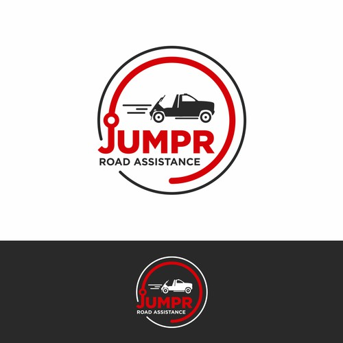 Automotive design with the title 'Logo for a road assistance company from Canada'