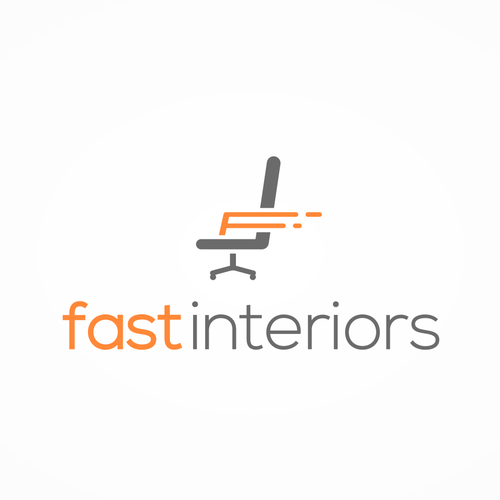 Chair logo with the title 'Logo for Fast Interiors.'