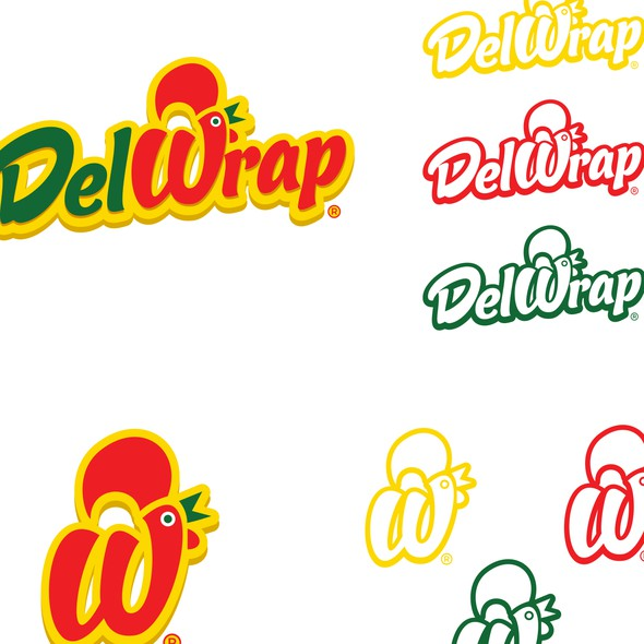 Portuguese logo with the title 'Del wrap'