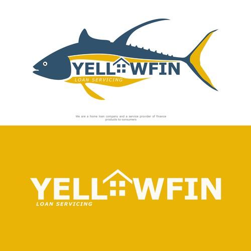 "Tuna logo with the title 'YellowFin ""loan servicing"" Logo'"