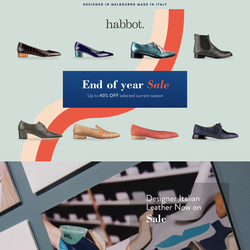 Discount design with the title 'Habbot shoes'