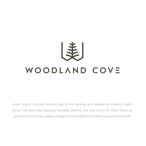House design with the title 'woodland cove logos'