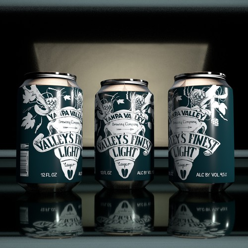 Beer can design with the title 'Beer can label design and Illustration'