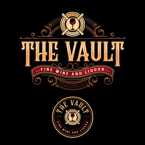 Art Deco logo with the title 'The Vault'