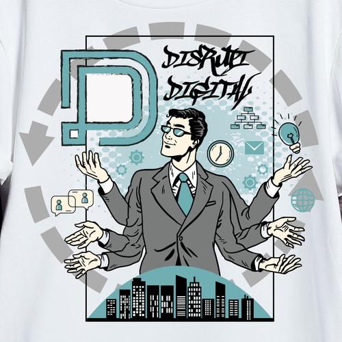 Men's t-shirt with the title 'T-shirt design '