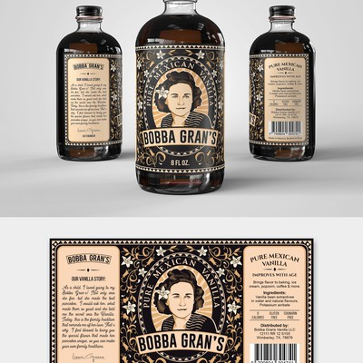 Classic label for new Mexican Vanilla Company