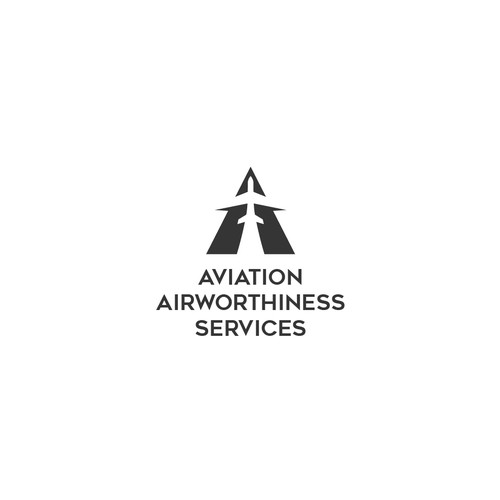Paper plane design with the title 'Aviation Logo'