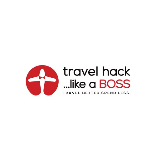 Boss design with the title 'clean and clever logo for travel service  '