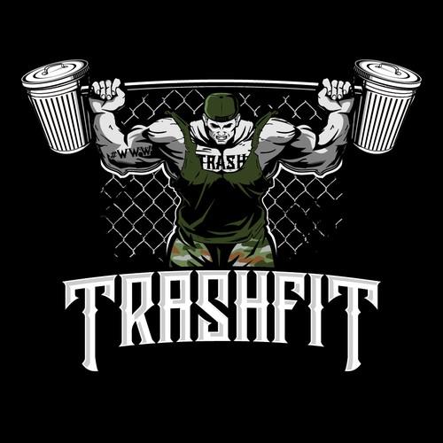 CrossFit logo with the title 'TRASHFIT LOGO'