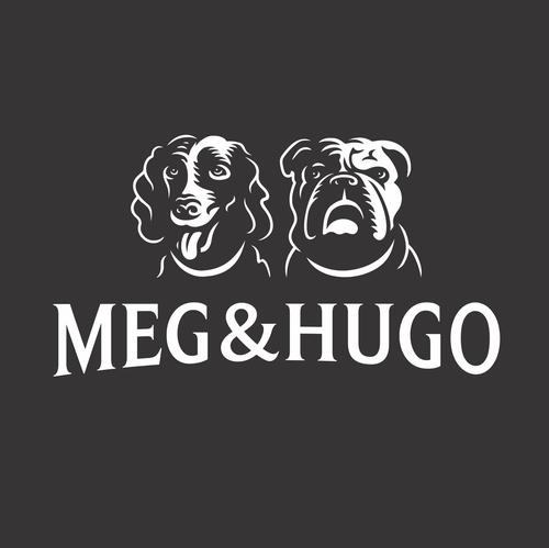 Bulldog design with the title 'Meg&Hugo'