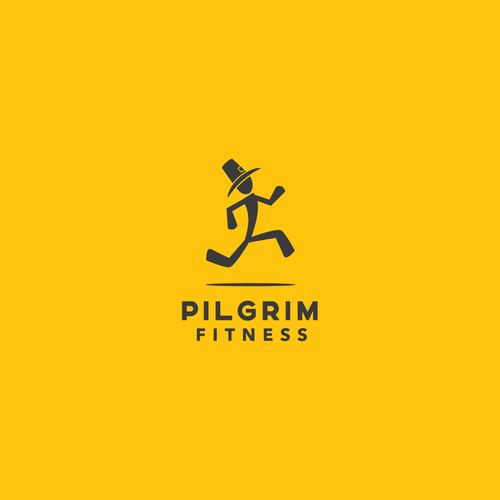 Dynamic logo with the title 'Dynamic and eye-catching fitness logo'