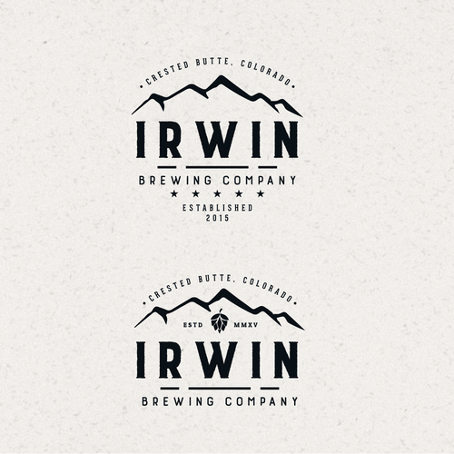 Brewing company logo with the title 'Logo Design for Irwin Brewing Company'