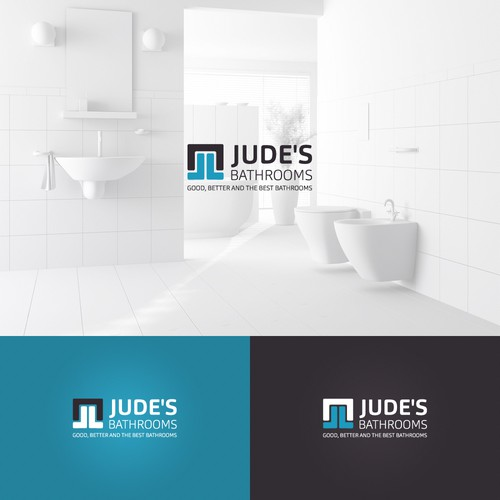 Residential brand with the title 'A logo concept for Jude's Bathrooms'