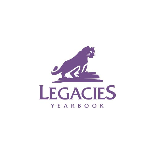 Panther logo with the title 'Legacies yyearbook'