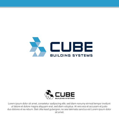 Building logo with the title 'Cubes Logo'
