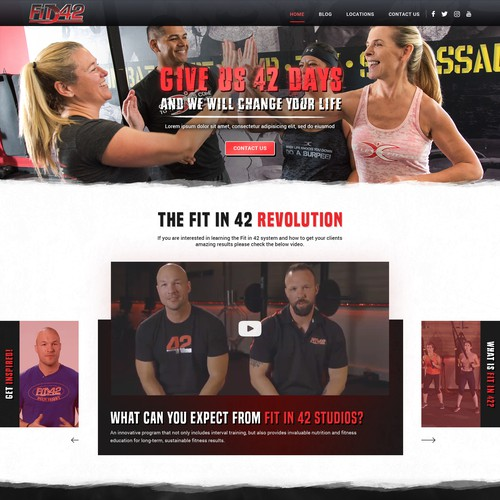 Fitness website with the title 'Fit in 24'