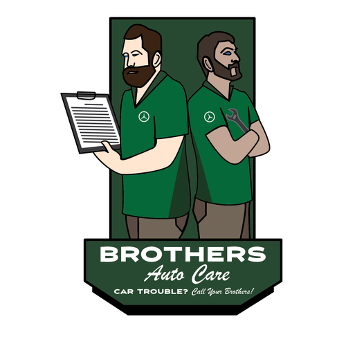 Brother design with the title 'Mechanic Brothers wanted a cartoon style logo'