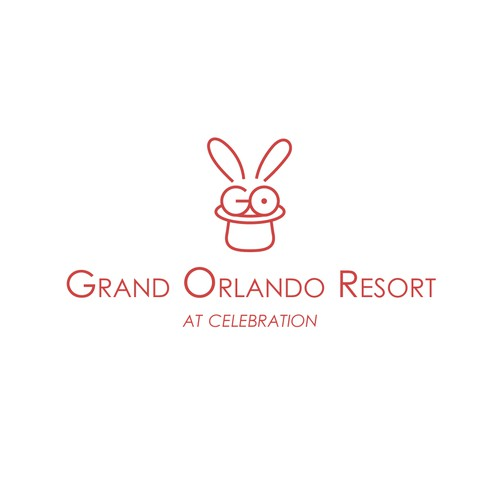 Resort design with the title 'GO. Grand Orlando Resort Logo'