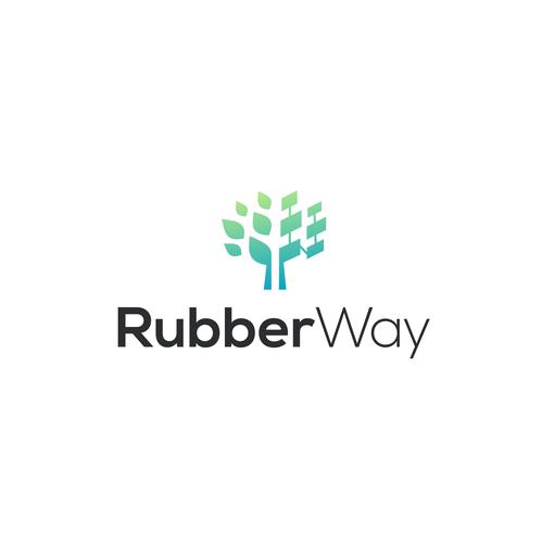 Pixel logo with the title 'RubberWay Logo   Tree Pixel Logo   Tree Logo   Pixel Logo   Rubber Logo   Technology Logo'
