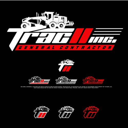 Contractor logo with the title 'Trac II Inc.'