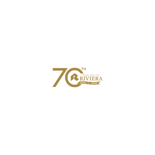 Kanji design with the title ' Your Life RIVIERA 1950- 結-2020 70th'