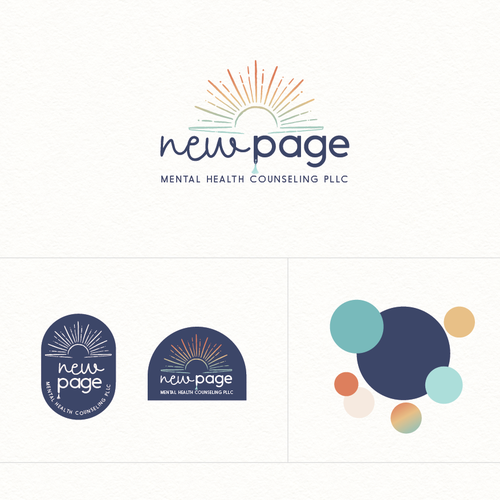 Page design with the title 'New page mental health counseling '