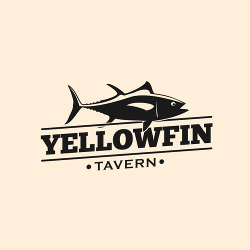 Tuna design with the title 'Restaurant logo'