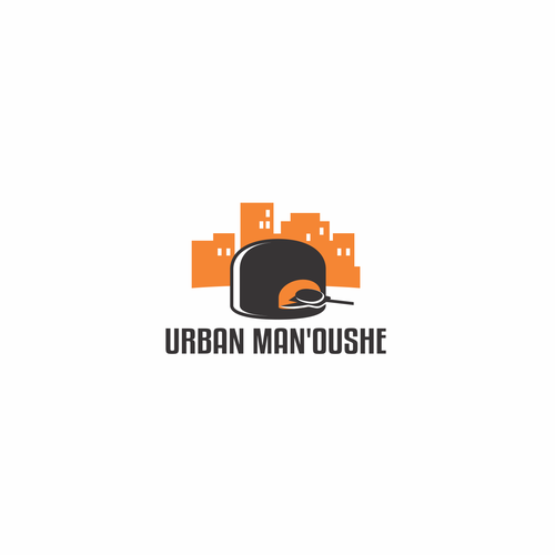 Oven design with the title 'Logo for Urban Man'oushe'