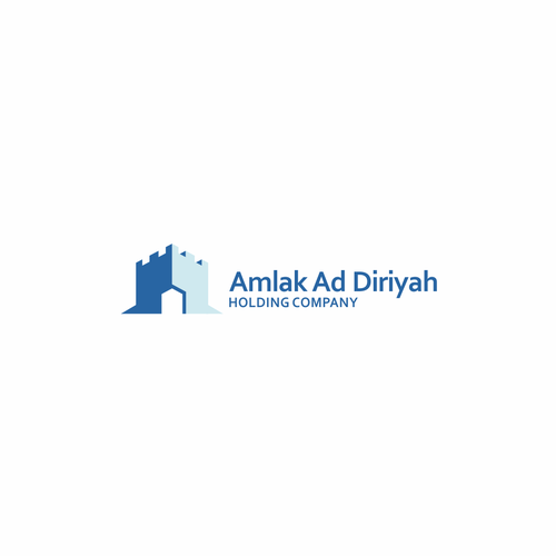 Holding design with the title 'Amlak Ad Diriyah'