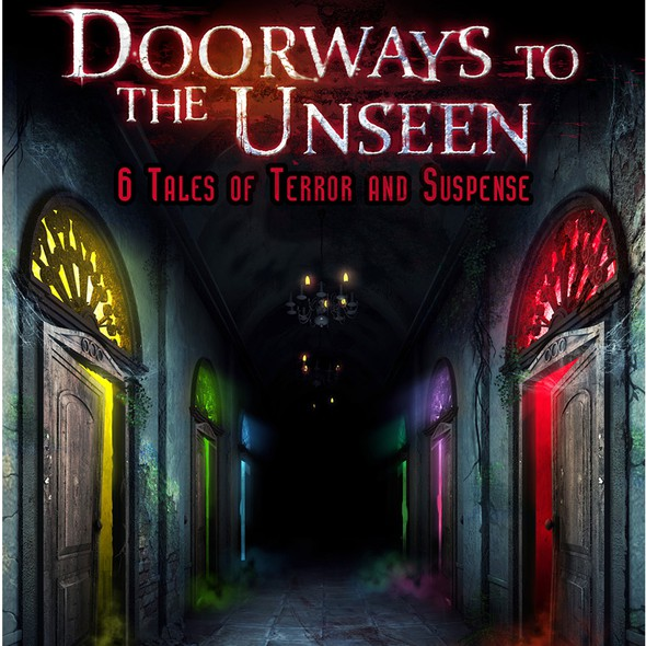 3D book cover with the title 'Book Cover for a Collection of Short Horror Stories'