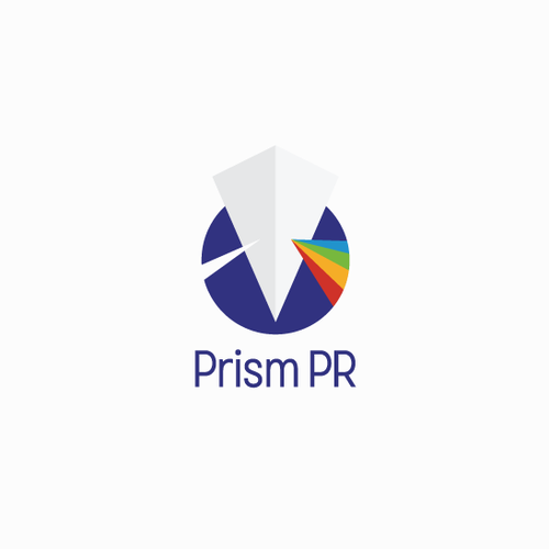 Prism logo with the title 'Logo Concept for Prism PR'