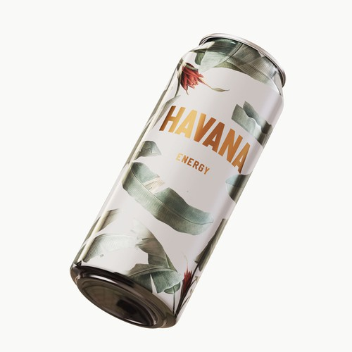 Cuba design with the title 'Energy drink'