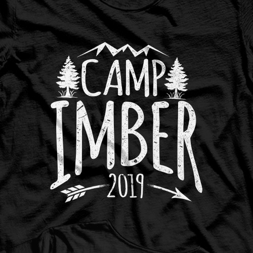 Camping t-shirt with the title 'Camp Imber'