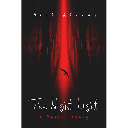 "Alien design with the title 'Book cover ""The Night Light""'"