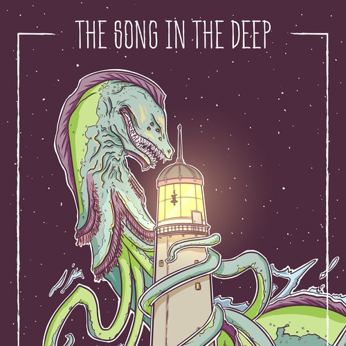 Octopus artwork with the title 'The song in the deep - poster'